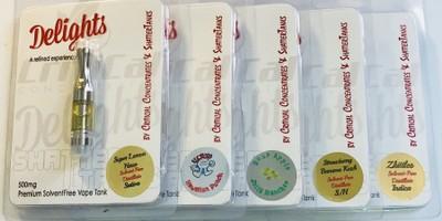 Delights Half Gram Vape Cartridges