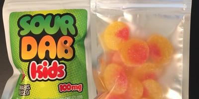 100 MG Peach/Apple/Blue Raspberry Gummies