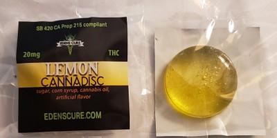 Edens Cure Lemon 20mg canna discs
