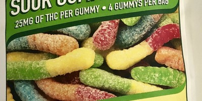 Merlin  100mg Sour Worms