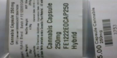 THC Capsules 250mg